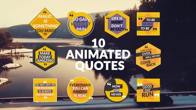 10 Animated Quotes: After Effects Templates