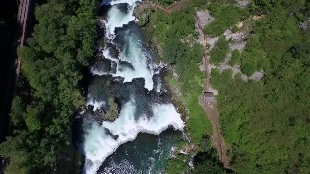 Aerial View Of A River : Stock Video