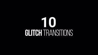 Geometric Glitch Transitions: Motion Graphics