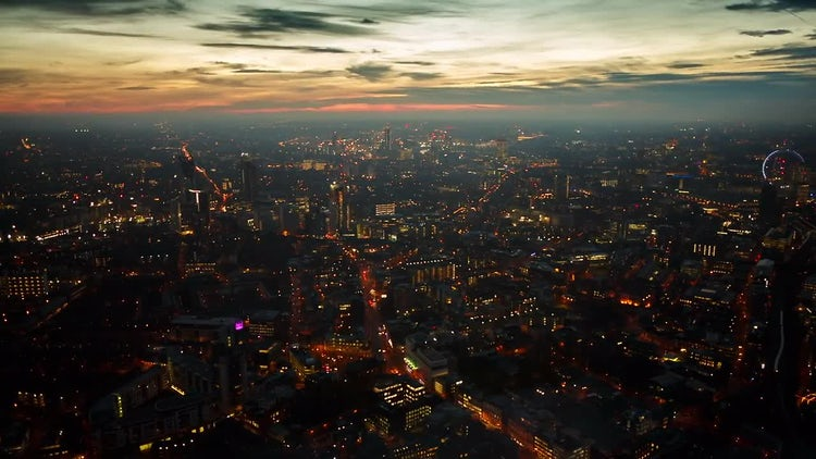 West London Skyline At Sunset: Stock Video