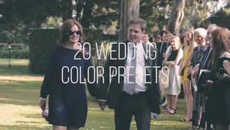 Wedding Color Presets: Premiere Pro Templates