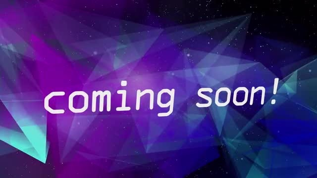 Coming Soon Triangles In Space: Stock Motion Graphics