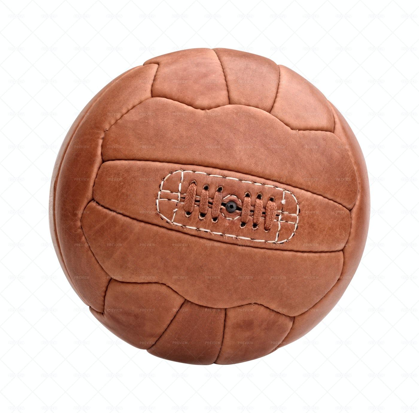 Vintage Soccer Ball Isolated: Stock Photos