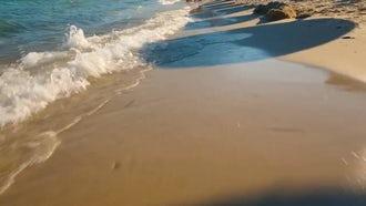 Calming Ocean Waves On Beach: Stock Footage