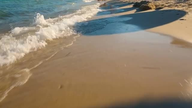 Calming Ocean Waves On Beach: Stock Video