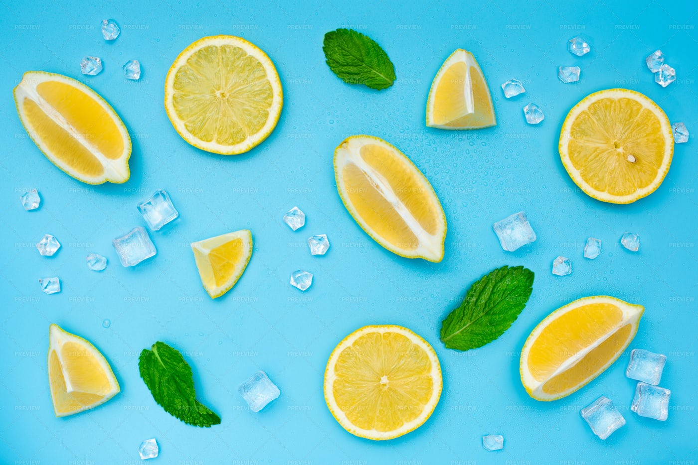 Lemon, Mint And Ice: Stock Photos
