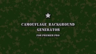 Camouflage Background Generator: Motion Graphics Templates