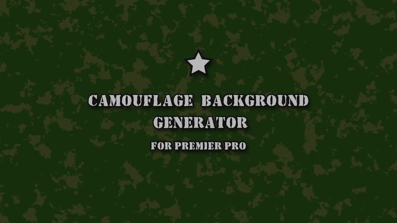 Camouflage Background Generator - Motion Graphics Templates