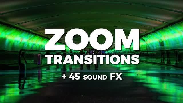 40 Lens Zoom Transitions + 45 Sound FX: Premiere Pro Templates