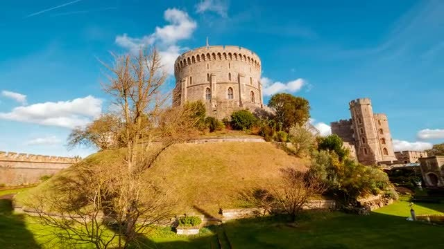 Windsor Castle In Berkshire: Stock Video