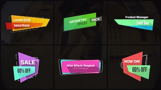 Geometric Titles & Lower Thirds: After Effects Templates