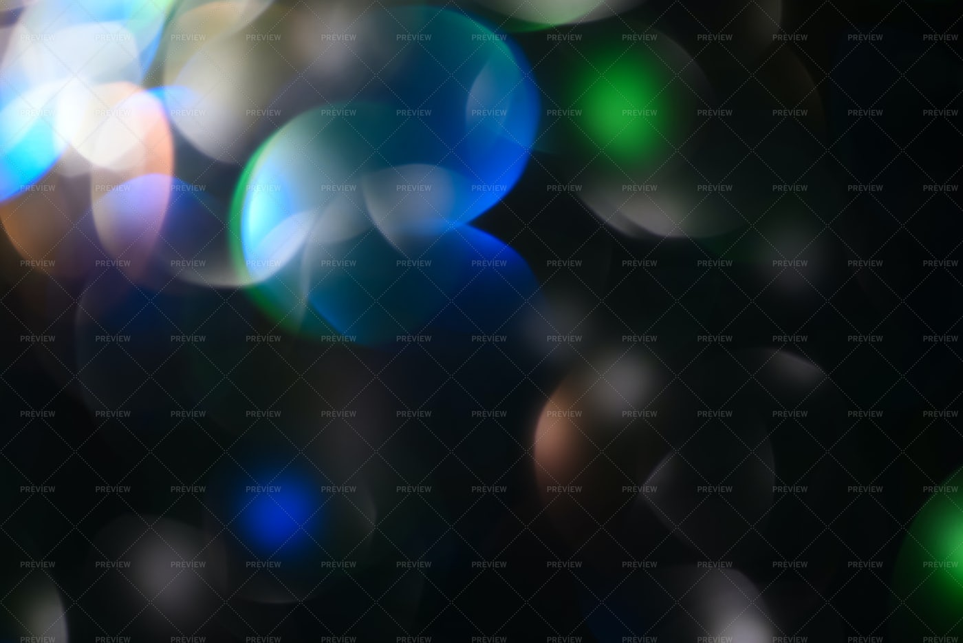 Blue And Green Bokeh Lights: Stock Photos