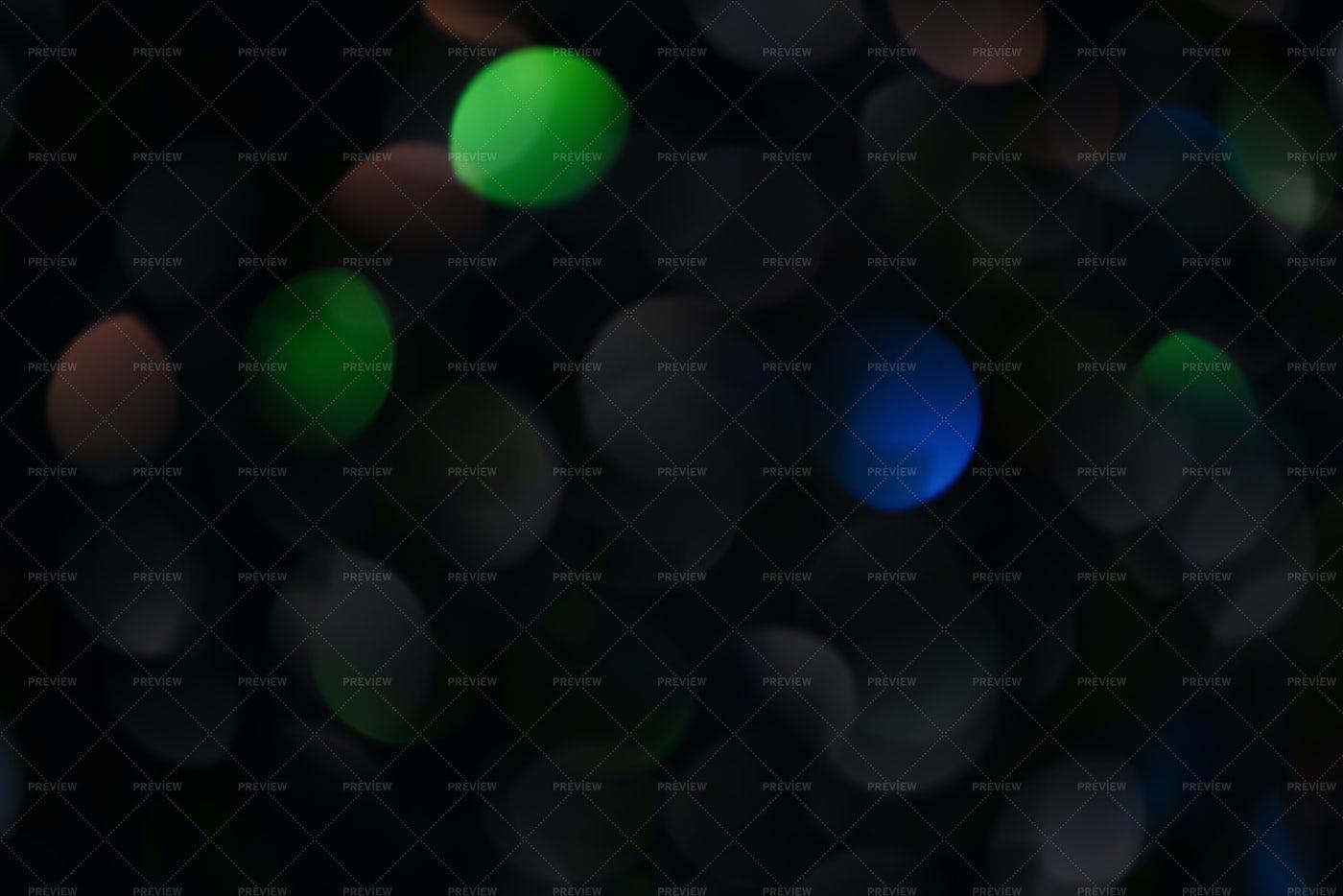 Dark Multicolored Bokeh Background: Stock Photos