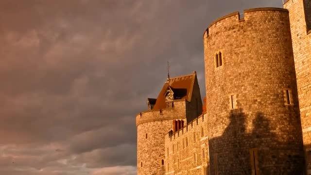 POV Of Windsor Castle : Stock Video