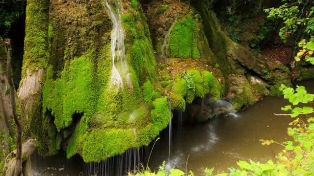 Bigar Waterfall In Transylvania: Stock Video