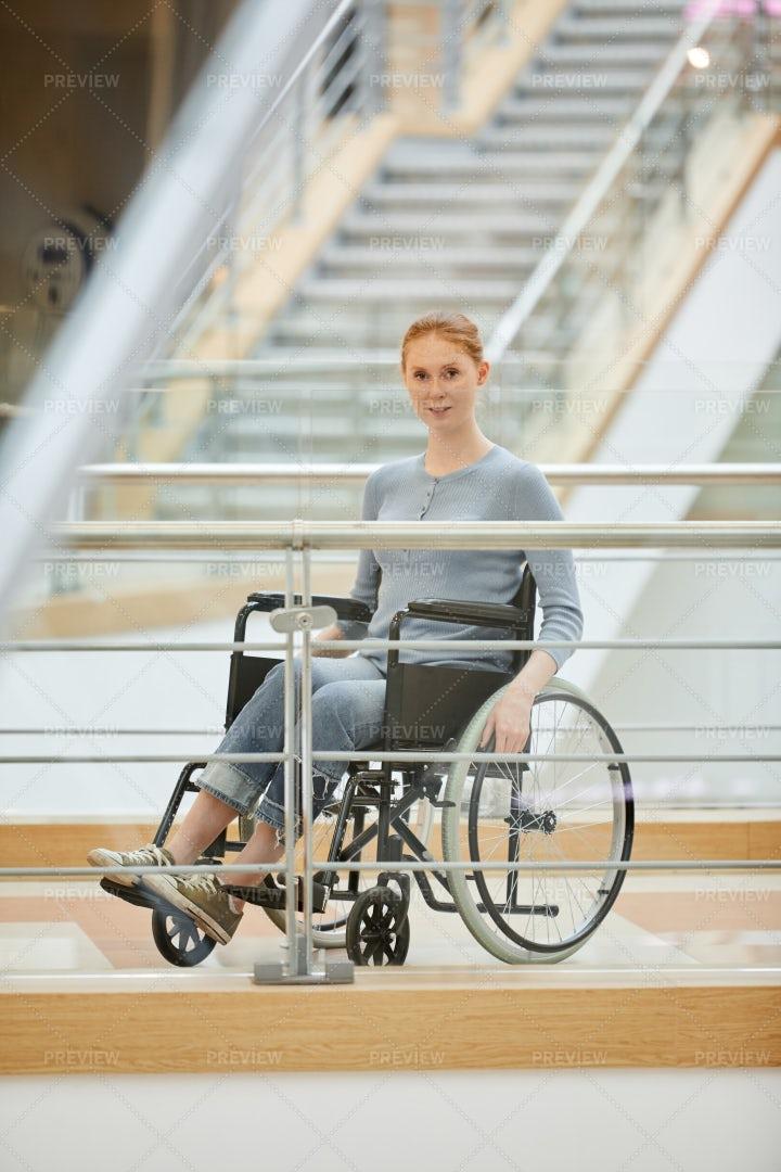 Disabled Woman At Hospital: Stock Photos