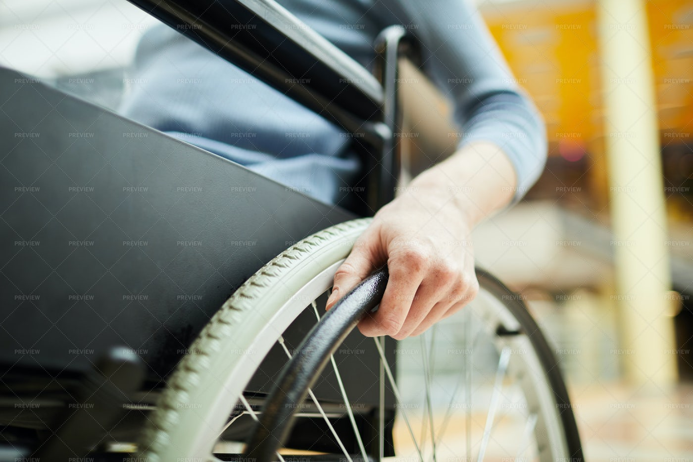 Disabled Patient In Wheelcair: Stock Photos