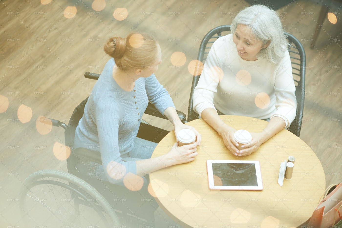 Mother And Daughter Talking: Stock Photos