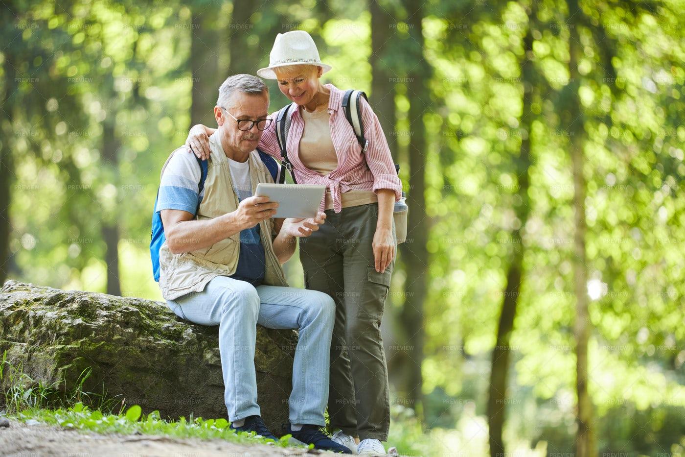 Couple Of Senior Hikers: Stock Photos