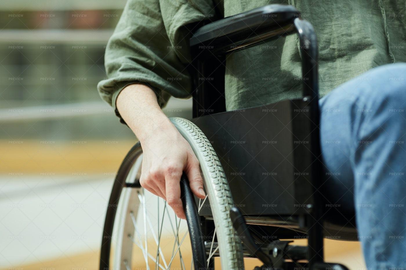 Woman In Wheelchair: Stock Photos