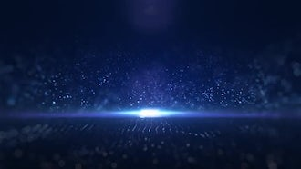 Light Particles On Blue Background: Motion Graphics