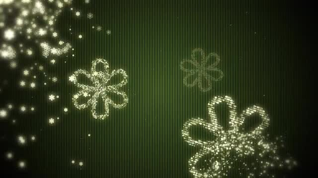 Flower Particles Background: Stock Motion Graphics