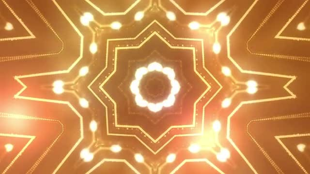 Abstract Gold Ornament: Stock Motion Graphics