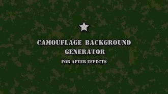 Camouflage Background Generator: After Effects Templates