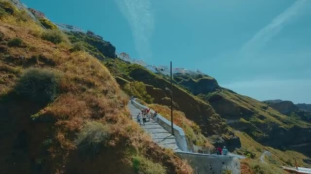 Aerial View Of Santorini, Greece: Stock Video