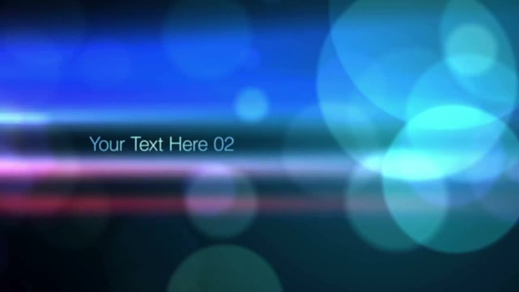 Bokeh Type: After Effects Templates