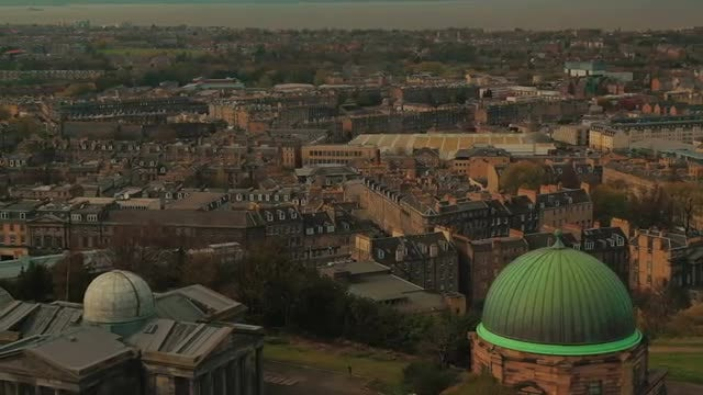 Establishing Shot Of Edinburgh City: Stock Video