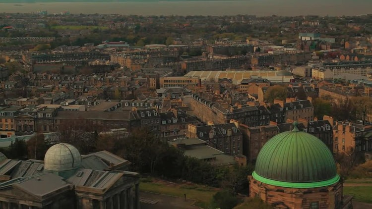 Establishing Shot Of Edinburgh City: Stock Video