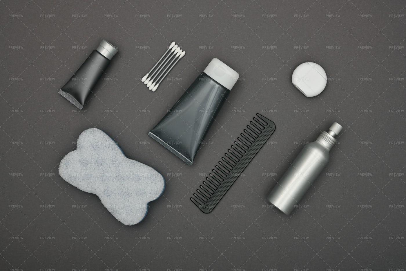 Black Hygiene Products: Stock Photos