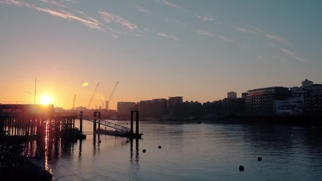 London Sunrise Time Lapse: Stock Video