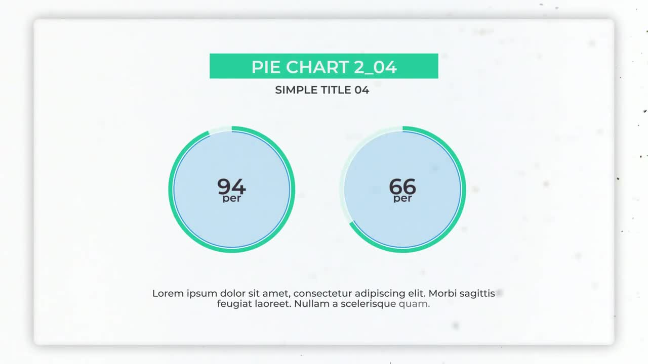Infographics Simple Pie Charts Creator After Effects