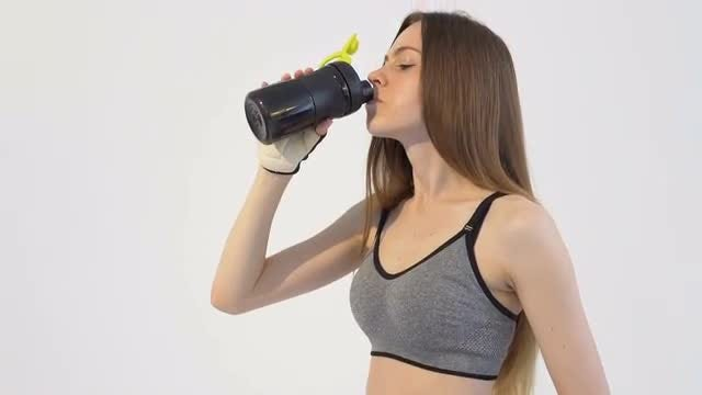 Drinking Water After Workout: Stock Video