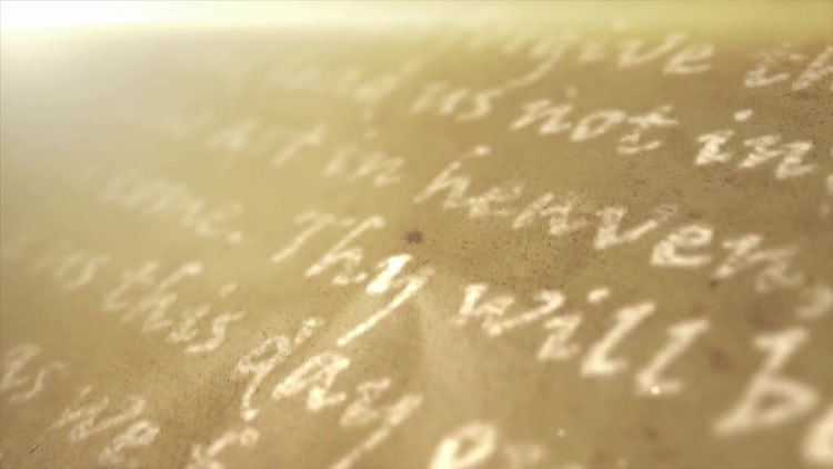 Religious Text Background: Stock Motion Graphics