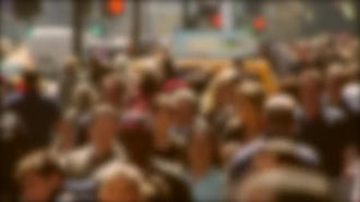 Crowded Street In Defocused Background: Stock Video