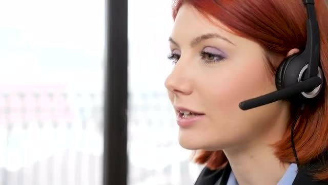 Call Center Agent Talking: Stock Video