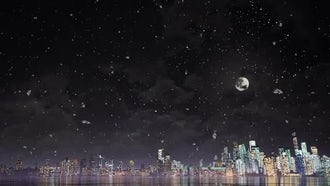 Snow And City: Motion Graphics