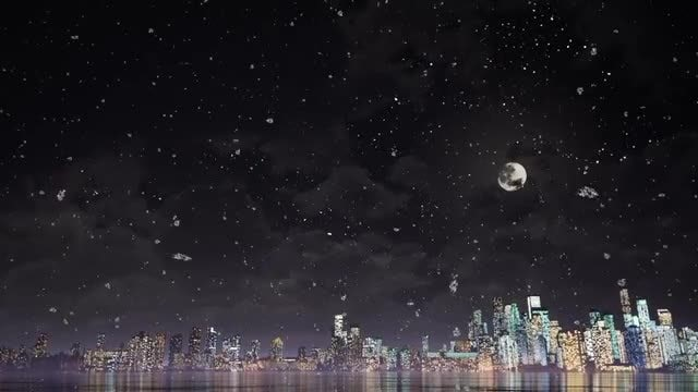 Snow And City: Stock Motion Graphics