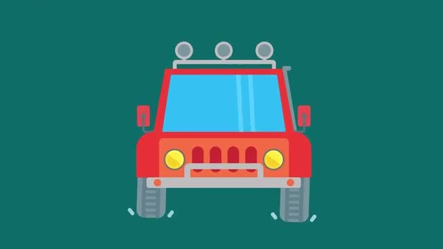 15 Vehicle Animations Pack: Stock Motion Graphics