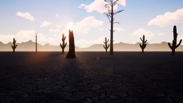 Sunrise In The Desert: Stock Motion Graphics