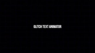 Glitch Text Animator: Motion Graphics Templates