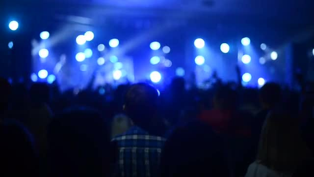 Crowd At Big Music Concert: Stock Video