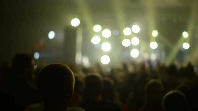 Crowd Partying At A Concert: Stock Video