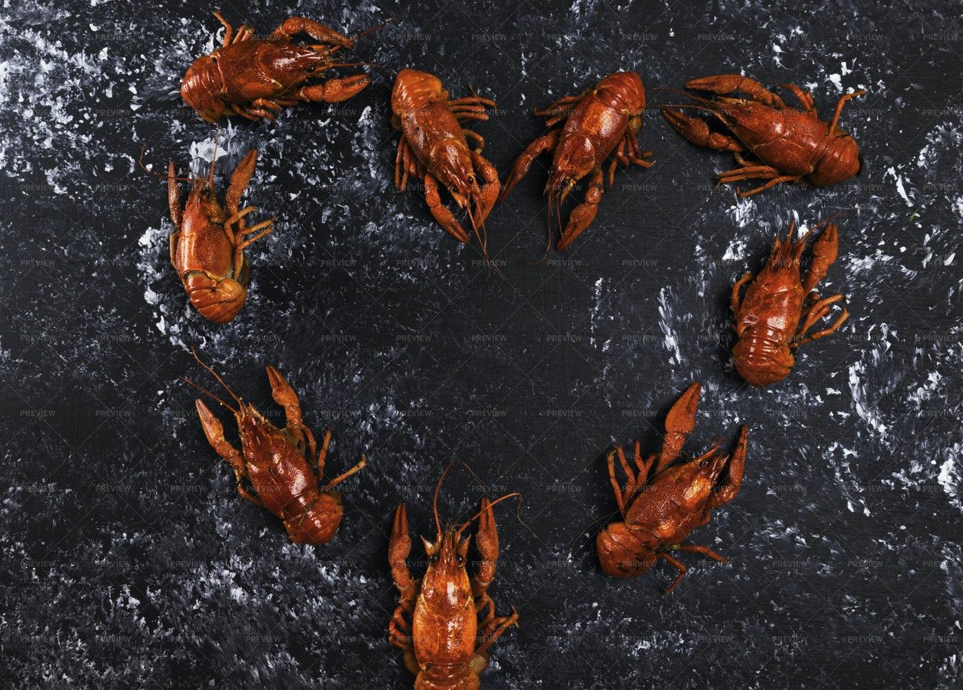 Crayfish Love: Stock Photos
