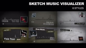 6 Sketch Music Visualizer: After Effects Templates