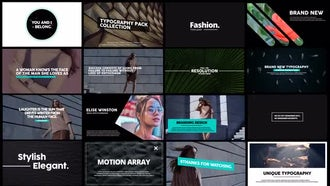 Motion Typo: After Effects Templates