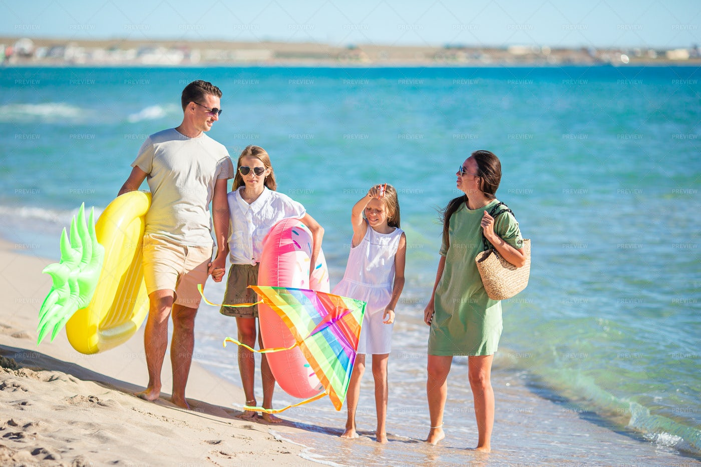 Family And Their Floaties: Stock Photos